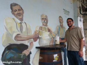 snow beer wall mural