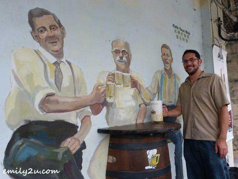 at Ipoh's snow beer wall mural