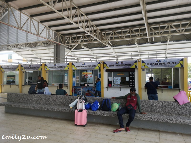 1. ticket counters at Kuala Perlis Ferry Terminal