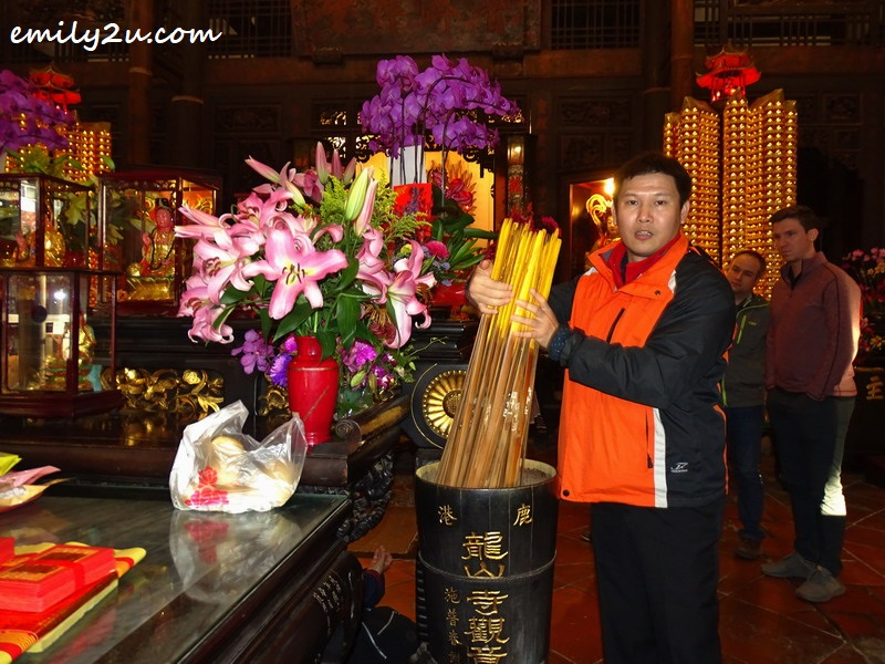 giant fortune sticks at Lungshan Temple