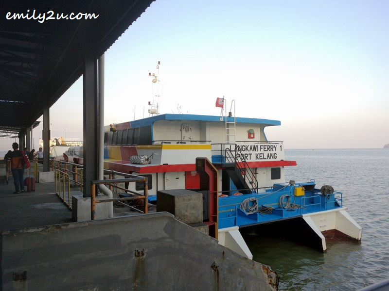 3. the ferry to Langkawi Island
