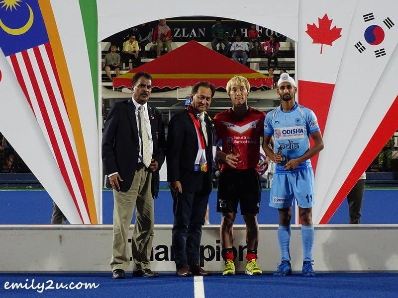 Top Goal Scorer of the Tournament: Mandeep Singh (11) / India & Jang Jong-hyun (25) / Korea, tie at seven goals