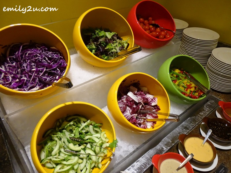 salad bar with dressing