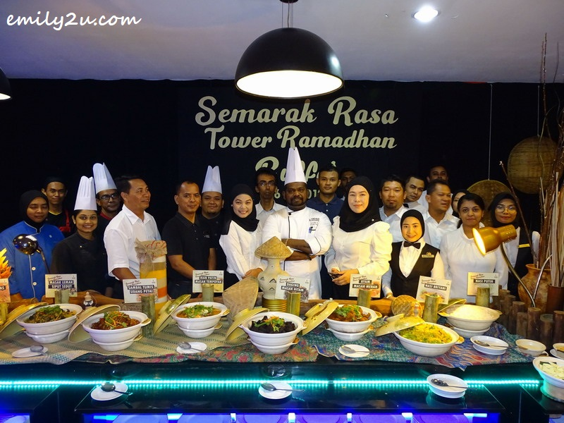 Tower Regency Hotel staff, led by Executive Chef  Dorret Joseph (centre) introduce