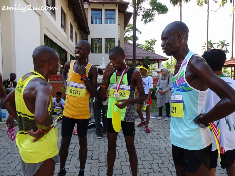 Kenyan runners swept all the top places