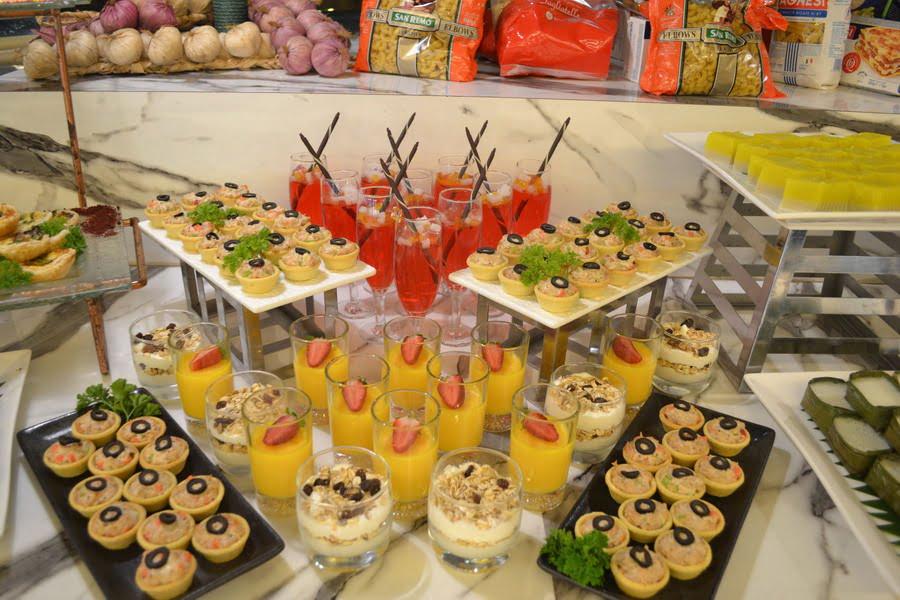 dessert counter