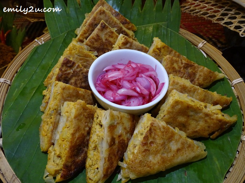 Murtabak with Onion Pickle