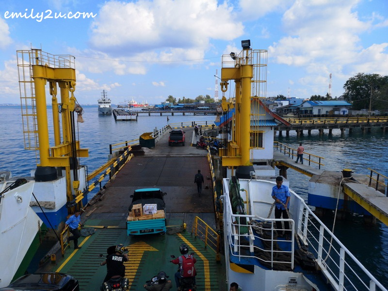 arrival at Bintan ferry terminal in Tanjung Uban