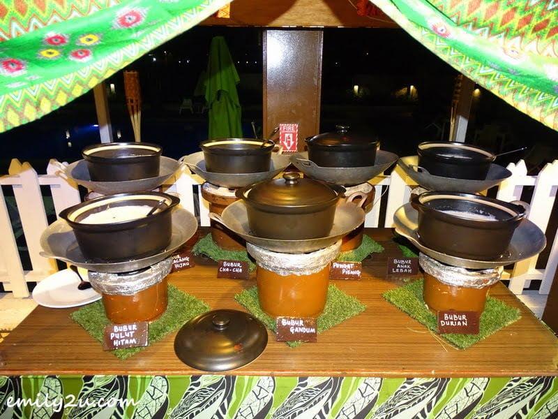 Bubur live action stall