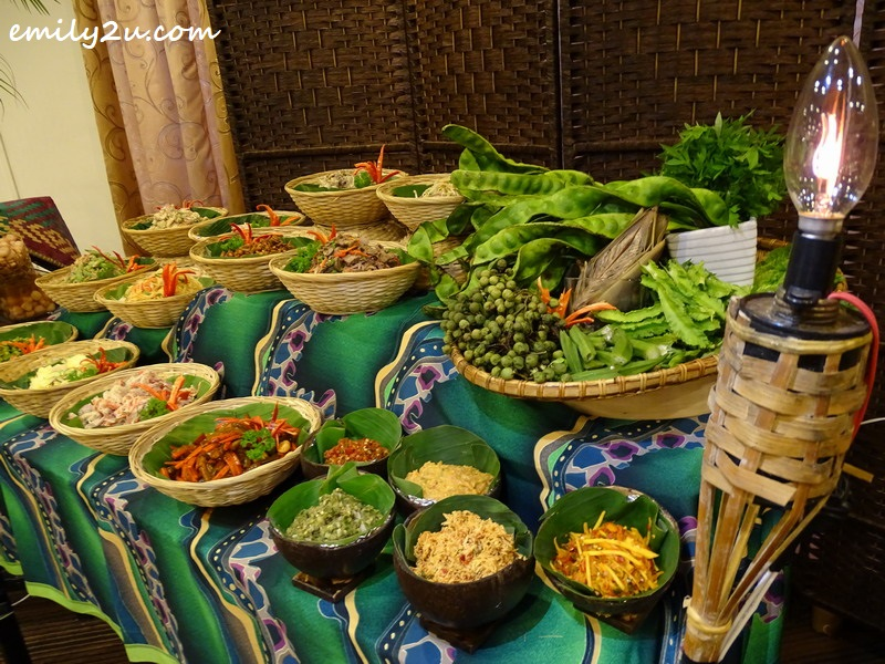 part of the buffet spread