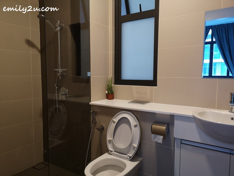 with attached bathroom