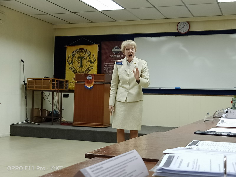Toastmasters International President Lark Doley, DTM
