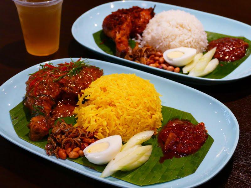 Nasi Lemak Kunyit and Nasi Lemak from Jom Makan