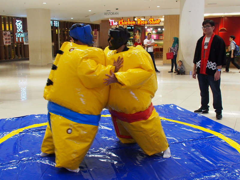 try out sumo wrestling at Ipoh Parade during the Haru Matsuri