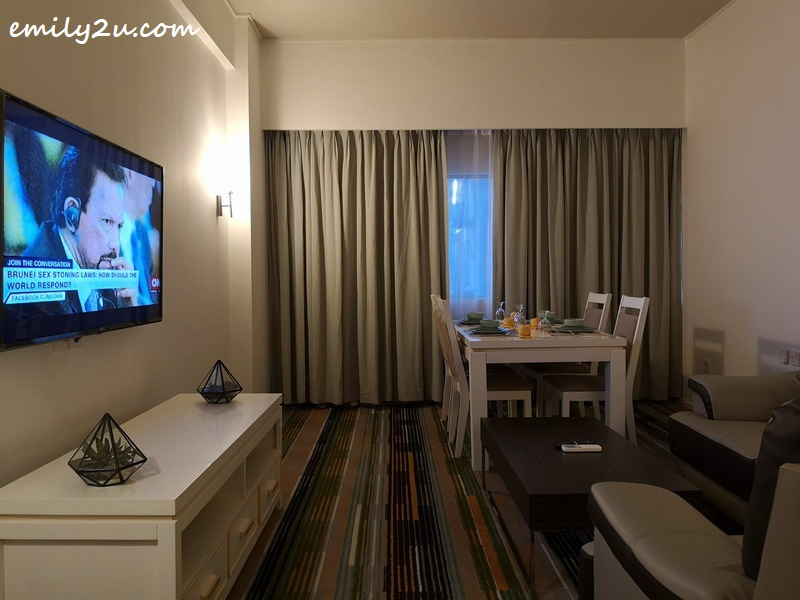 living room of one of the Suites