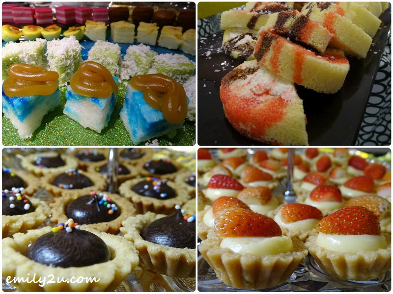 an assortment of pastries and kuih
