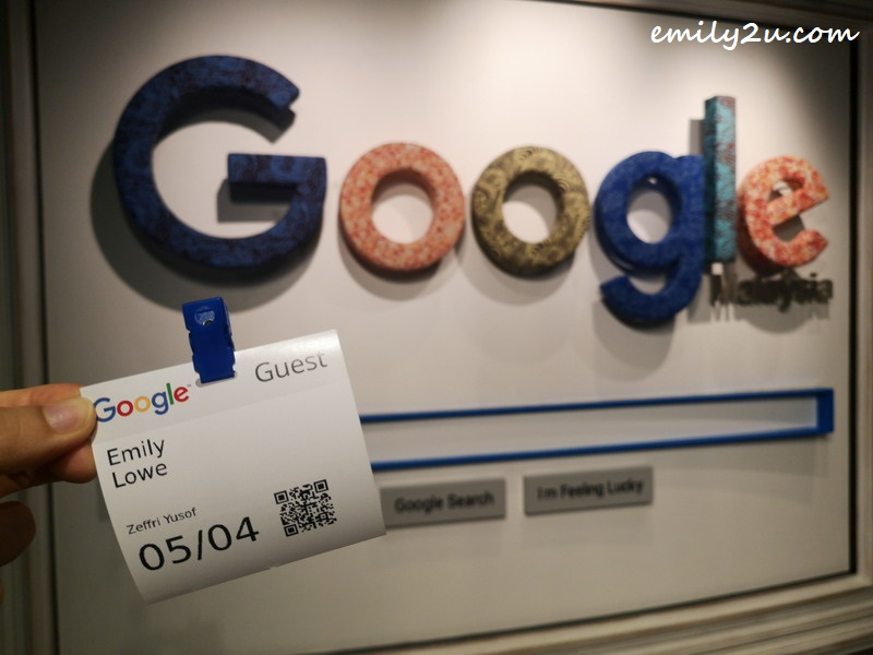 Emily at Google Malaysia's corporate office