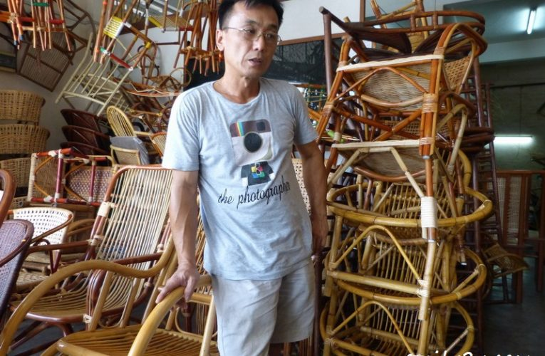 Weaving His Mark With Rattan