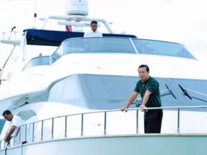 Tan Sri works and play hard. He always believes in rewarding himself, and has bought a yacht named Epic Princess