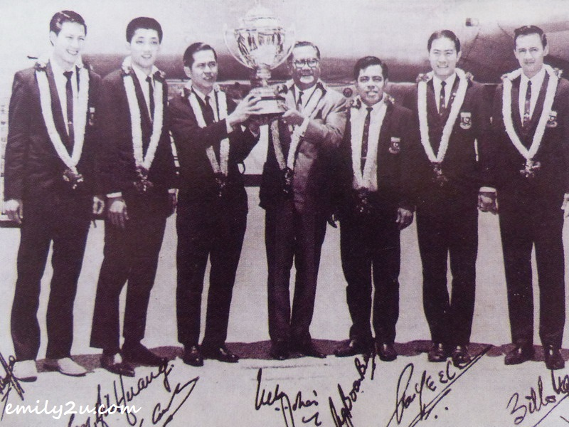 1967 Thomas Cup Champions. Tan is second from right.