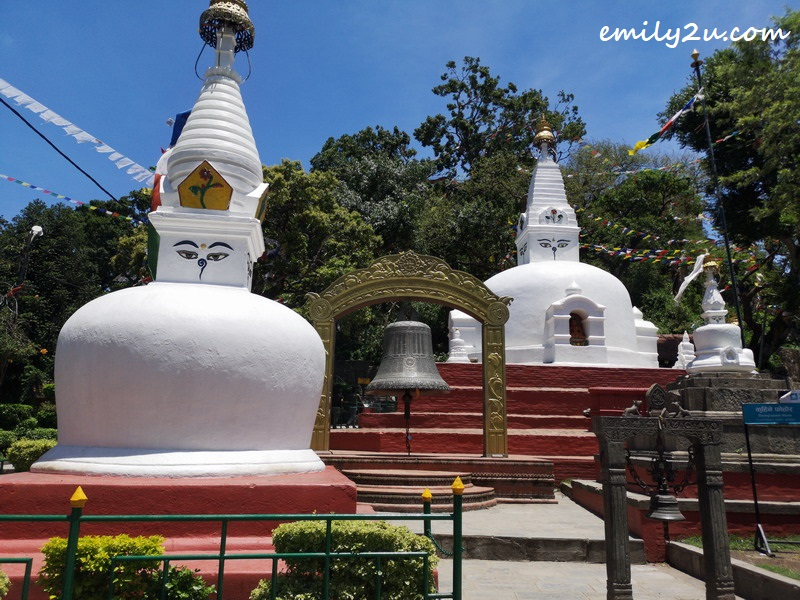 the many stupas