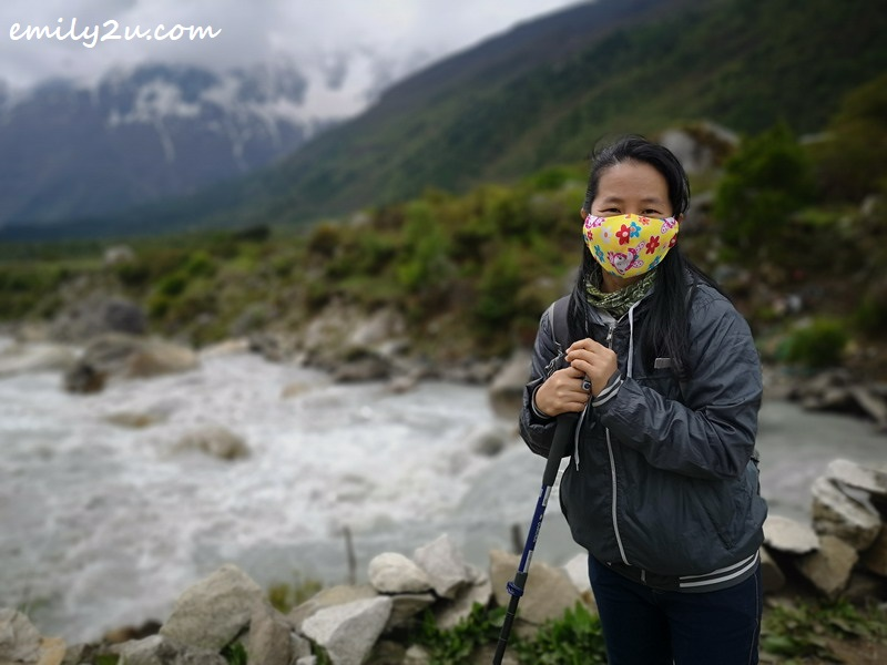 a trekking pole, though not compulsory, is extremely useful navigating the rugged terrains of the Himalayan range