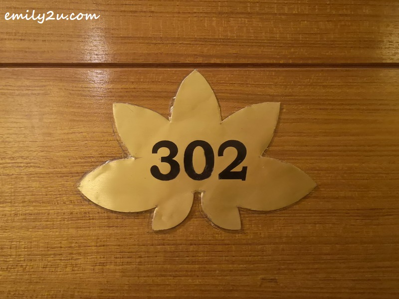 lotus-shaped door numbering
