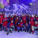 Media members in Snow World
