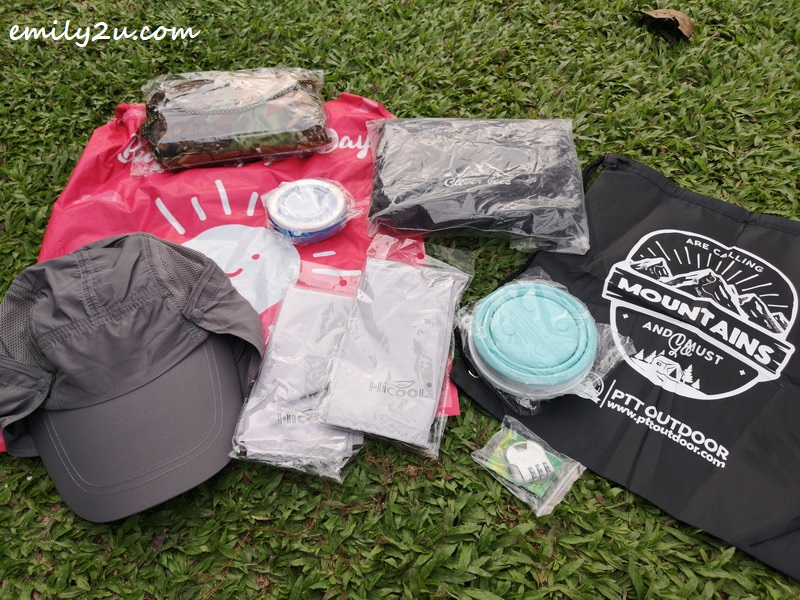 some of the items that I received from PTT Outdoor