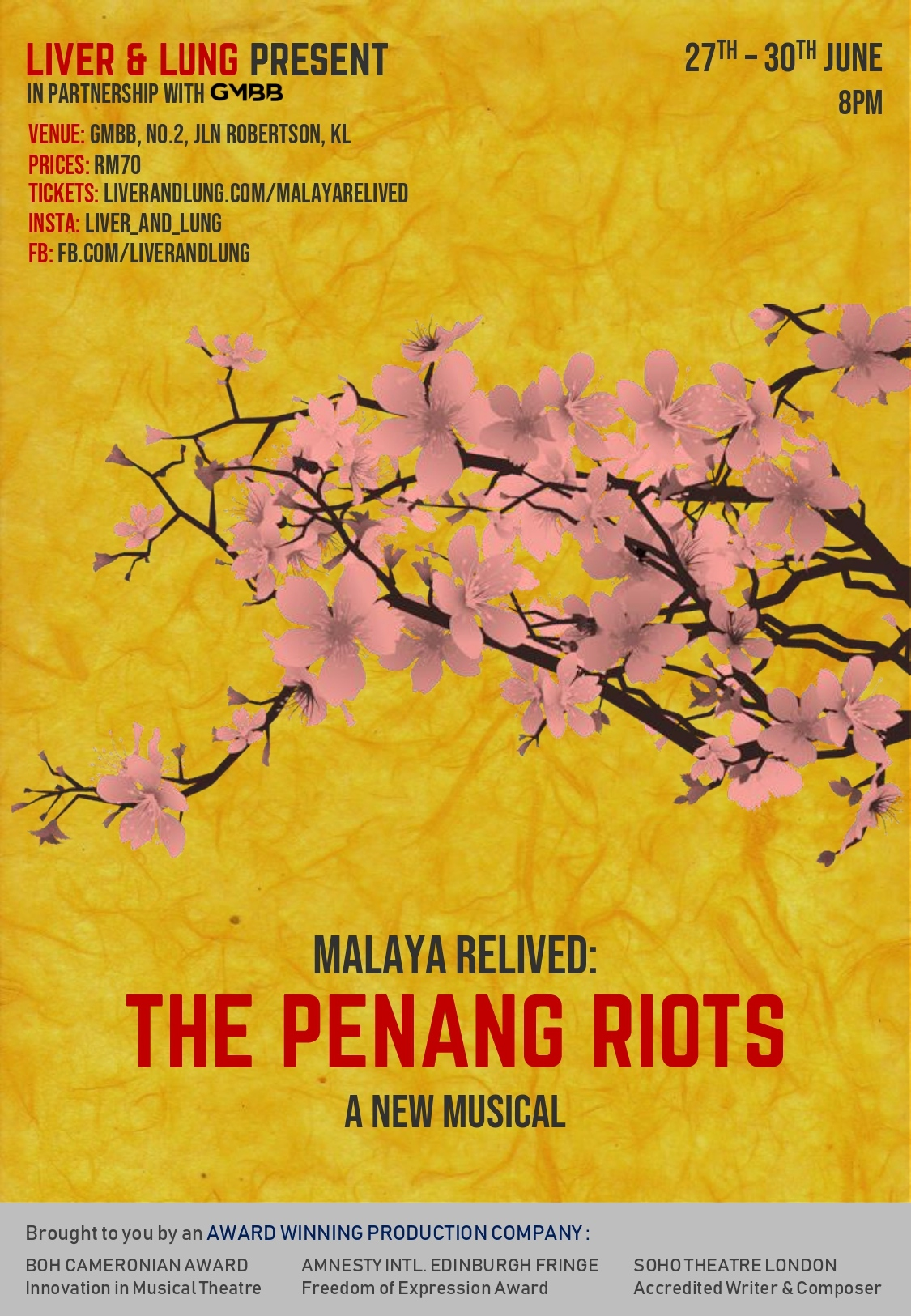 poster: The Penang Riots