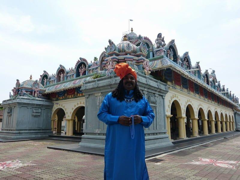 Singampuli at the back of Sri Mariamman Temple in Buntong waiting for his scene