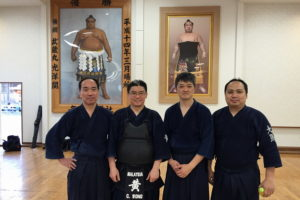photo with a few Japanese senseis who used to train with Wong in Malaysia