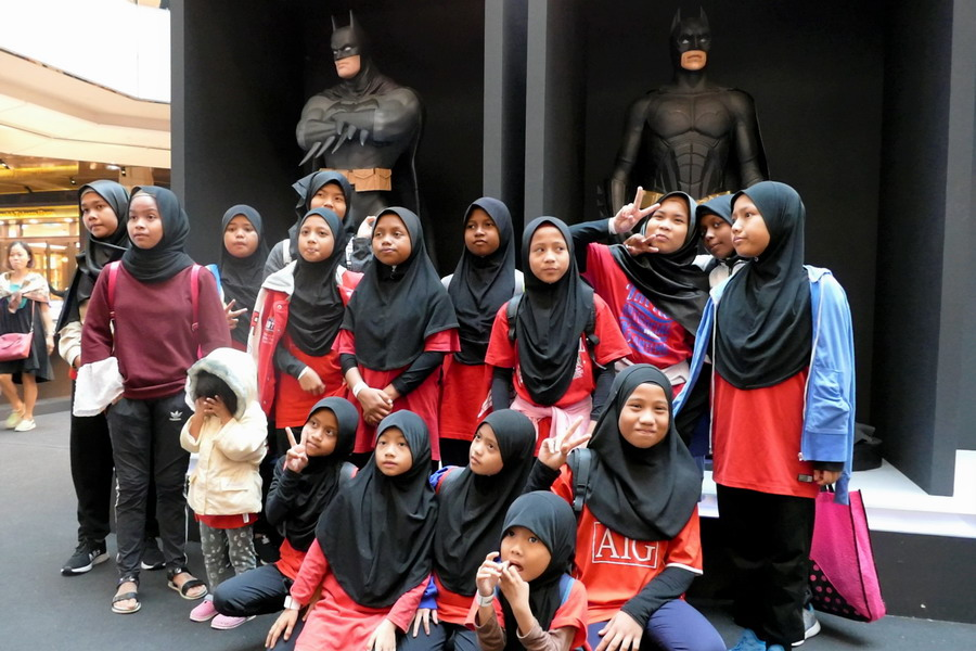 Girls of Rumah Titian Kaseh at Batman Experience