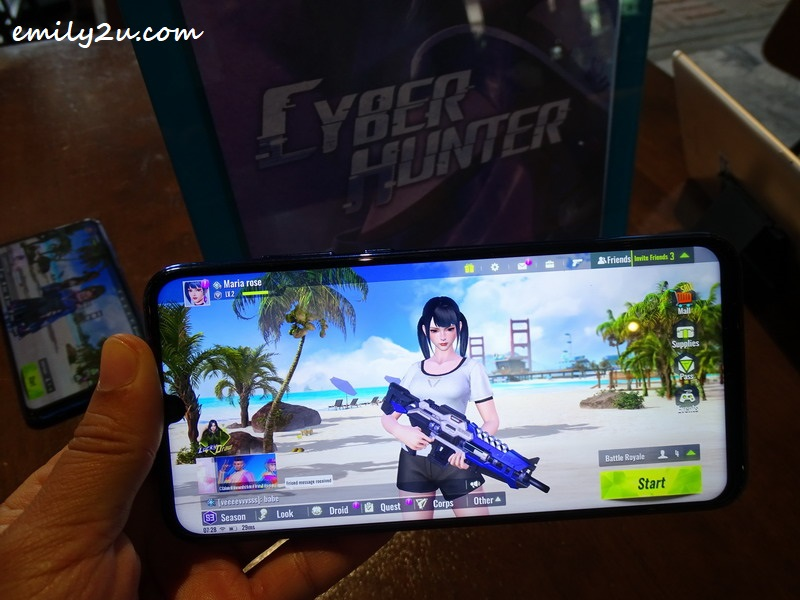 Cyber Hunter on Honor 20 Lite