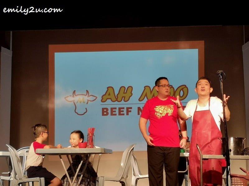 Lee eats at Ah Moo Beef Noodles