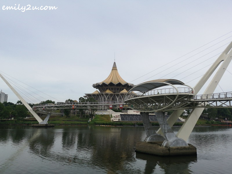 Darul Hana Bridge links the northern and southern parts of Kuching