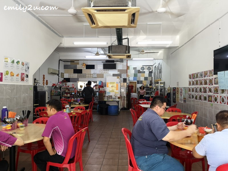 the air-conditioned restaurant