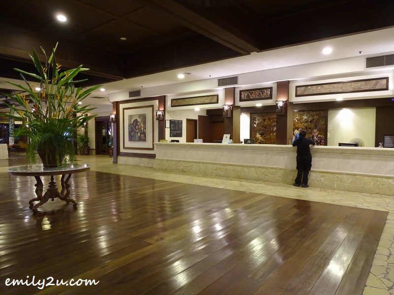 lobby of Damai Beach Resort