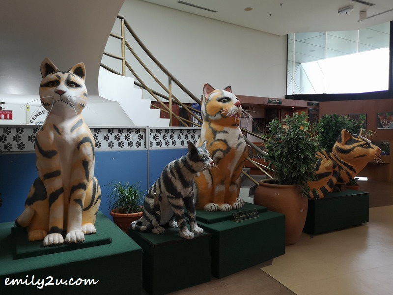 large cat statues