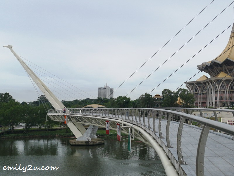Darul Hana Bridge has a length of 335 metres