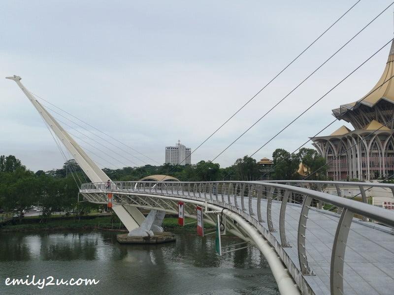 Darul Hana Bridge has a length of 335 metres