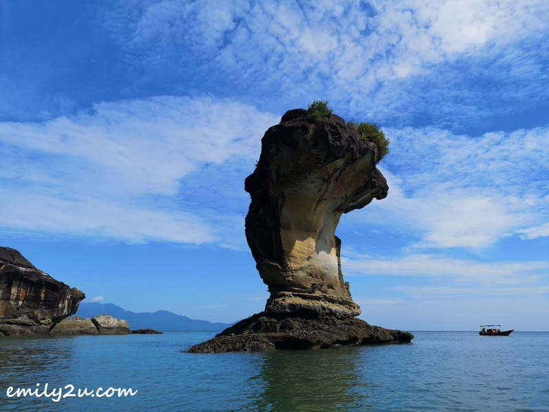 Bako National Park's iconic sea stack shaped like a cobra