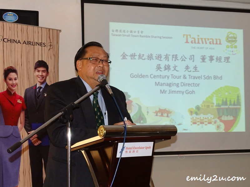 host of the event, Golden Century Tour & Travel Sdn Bhd Managing Director, Mr Jimmy Goh