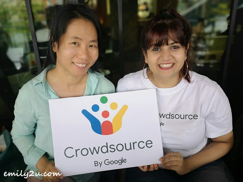 yours truly with Google Crowdsource Community Manager Reshma Sanghvi (R)