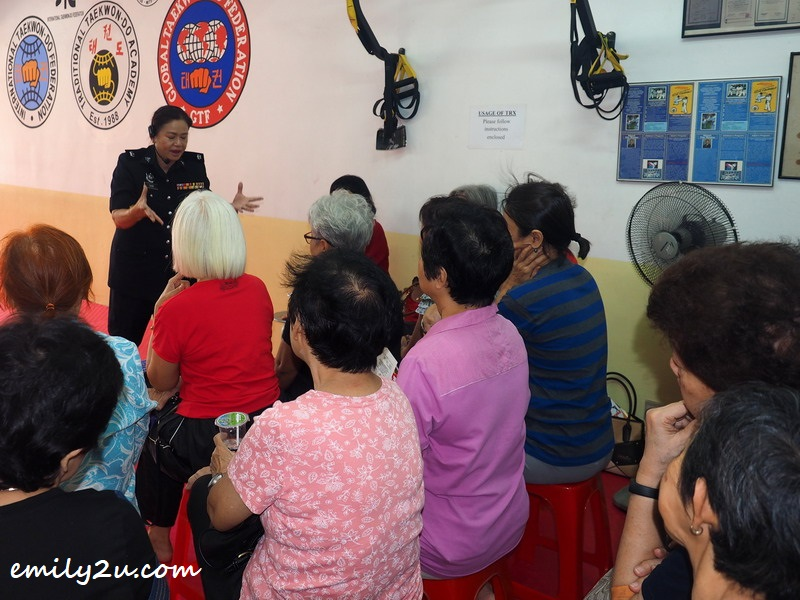 DSP Chan Mei Ling of Polis Diraja Malaysian (Royal Malaysia Police) briefs participants