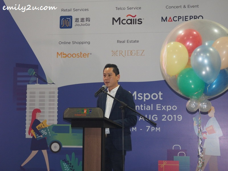 Mr Sean Ng, founder of MMspot, in his opening address