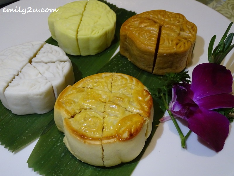 the four flavours of Yuk Sou Hin house-made mooncakes