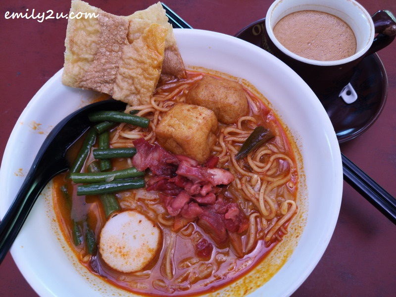 close up of Oldtown Curry Mee
