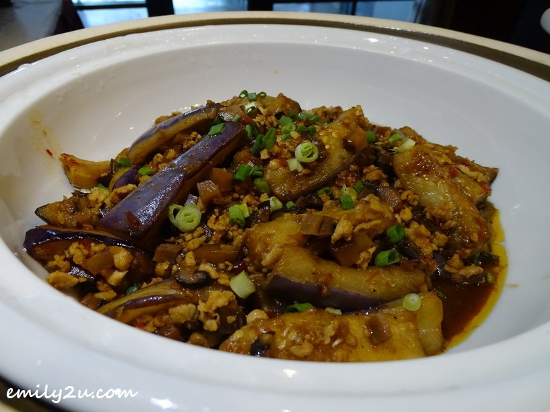 Braised Eggplant with Salted Fish & Chilli