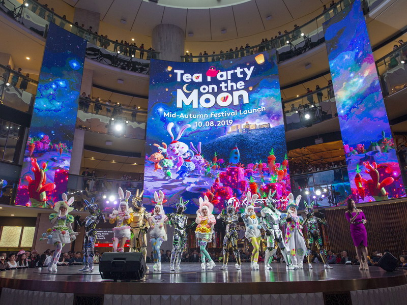 Tea Party on the Moon at SkySymphony Stage with bunnies